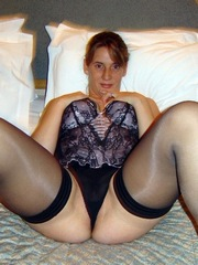 More pics of the wife in lingerie in..