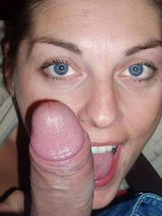 Blue eyed girlfriend sucking boyfriends..