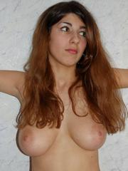 Unshaved wife shows her big natural..