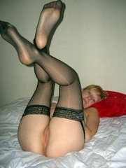 Cute blonde girlfriend playing with..