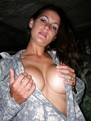 Army privates having fun taking nude..