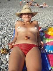 Sexy wife on her honeymoon topless..