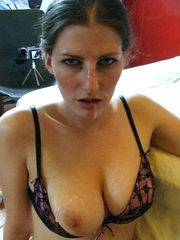 Hot girlfriends faces covered by fresh..