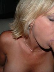 blonde wife blowjob
