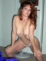 Redhead milf wife shows her stunning..